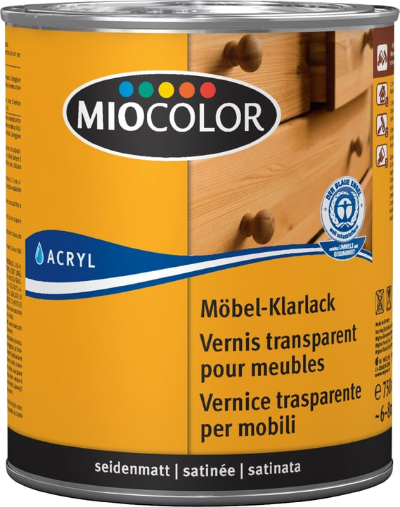 Laque transparente pour meubles satinée Miocolor 661181100000 Couleur Incolore Contenu 750.0 ml Photo no. 1