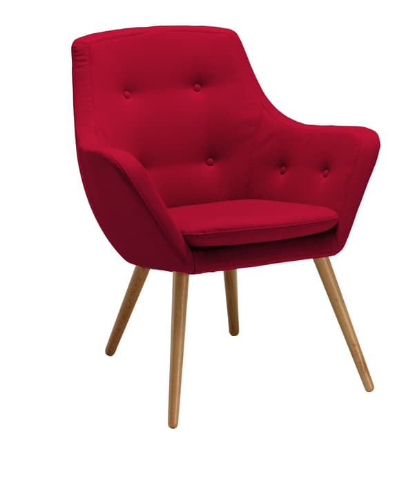 FLORIN Fauteuil 402441007030 Dimensions L: 73.0 cm x P: 70.0 cm x H: 82.0 cm Couleur Rouge Photo no. 1