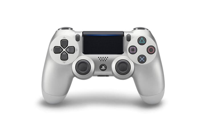 PS4 Wireless DualShock Controller v2 silver Controller Sony 798072200000 Bild Nr. 1