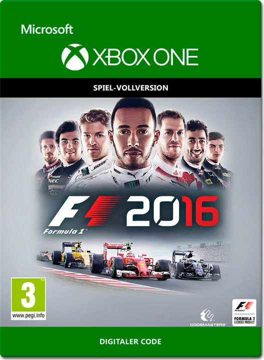 Xbox One - F1 2016 Digital (ESD) 785300137282 Photo no. 1
