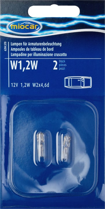 Éclairage du tableau de bord W1.2W Ampoule Miocar 620457000000 Photo no. 1