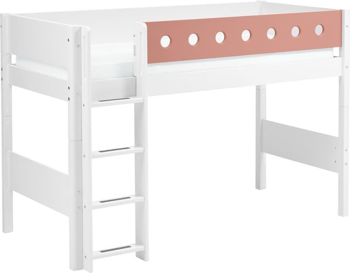WHITE Mittelhochbett Flexa 404998900000 Farbe Rosa Grösse B: 110.0 cm x T: 210.0 cm x H: 143.0 cm Bild Nr. 1