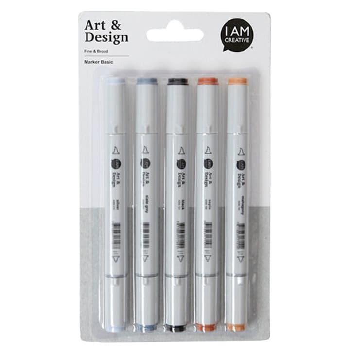 Art & Design Pen, basic, 5 pcs. I AM CREATIVE 666200100000 Photo no. 1