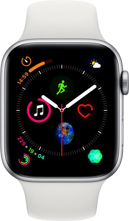 Watch Serie 4 44mm GPS+Cellular silver Aluminum White Sport Band Smartwatch Apple 798454000000 Photo no. 1