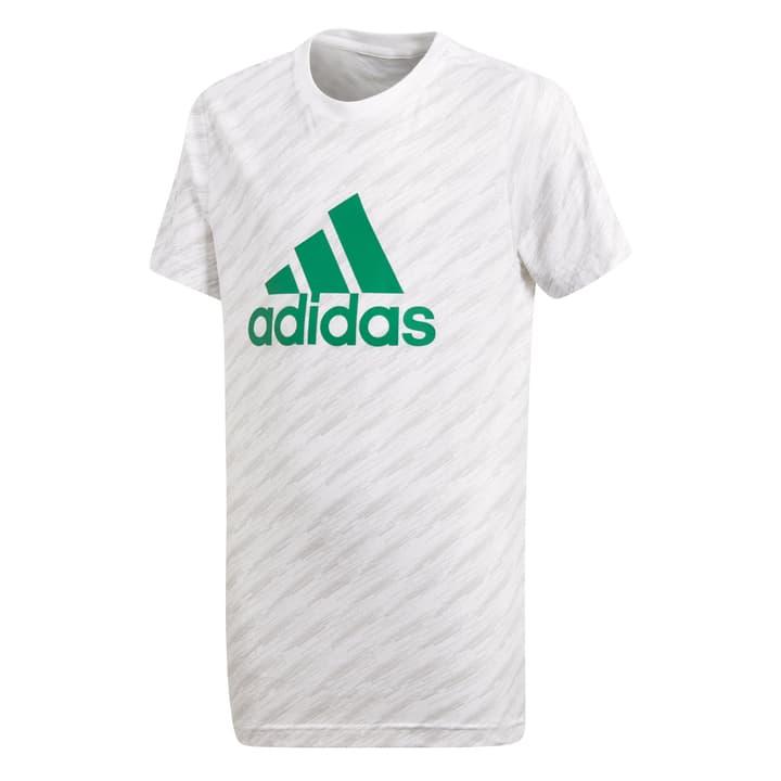YB LOGO TEE Knaben-T-Shirt Adidas 464544316410 Farbe weiss Grösse 164 Bild-Nr. 1