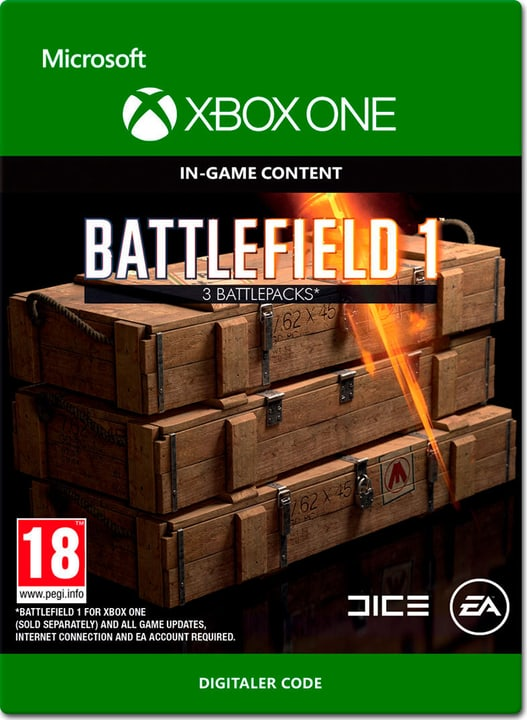 Xbox One - Battlefield 1: Battlepacks x3 Digital (ESD) 785300137305 N. figura 1