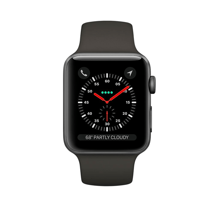 Watch Series 3 GPS/LTE 38mm spacegray/gray Apple 785300129998 Bild Nr. 1