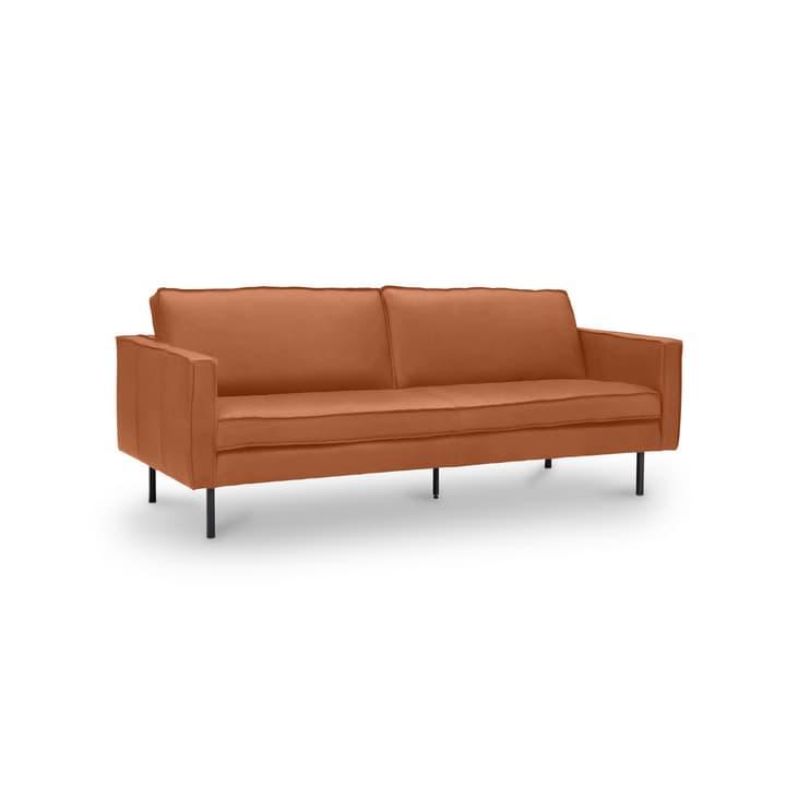 TEXADA divano in pelle da 3 posti 360020026510 Dimensioni L: 196.0 cm x P: 95.0 cm x A: 61.0 cm Colore Tabacco N. figura 1