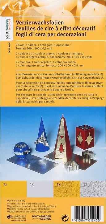 Feuilles De Cire Or/Argent 5 Pieces Exagon 664401600000 Photo no. 1
