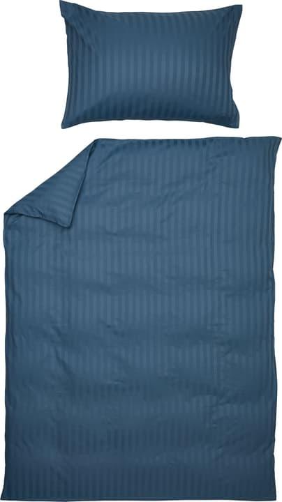 MANUEL Federa per piumino raso 451308312340 Colore Blu Dimensioni L: 160.0 cm x A: 210.0 cm N. figura 1
