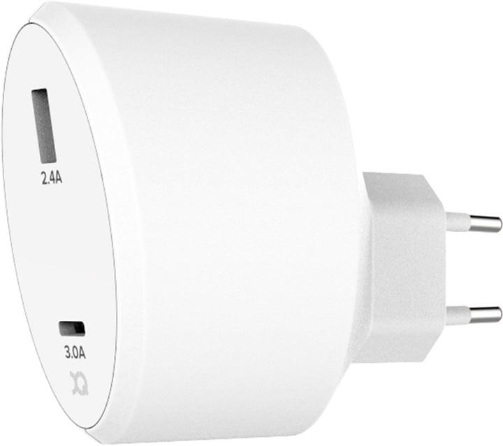 Travel Charger 5.4A Dual USB + USB C EU bianco Caricabatterie XQISIT 798623700000 N. figura 1