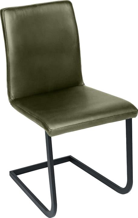 SANTORO Sedia a slitta 402355700065 Dimensioni L: 43.0 cm x P: 55.0 cm x A: 86.0 cm Colore Verde oliva N. figura 1