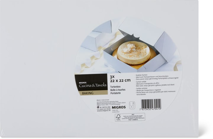 Tortenbox 22 cm Cucina & Tavola 705033500000 Bild Nr. 1