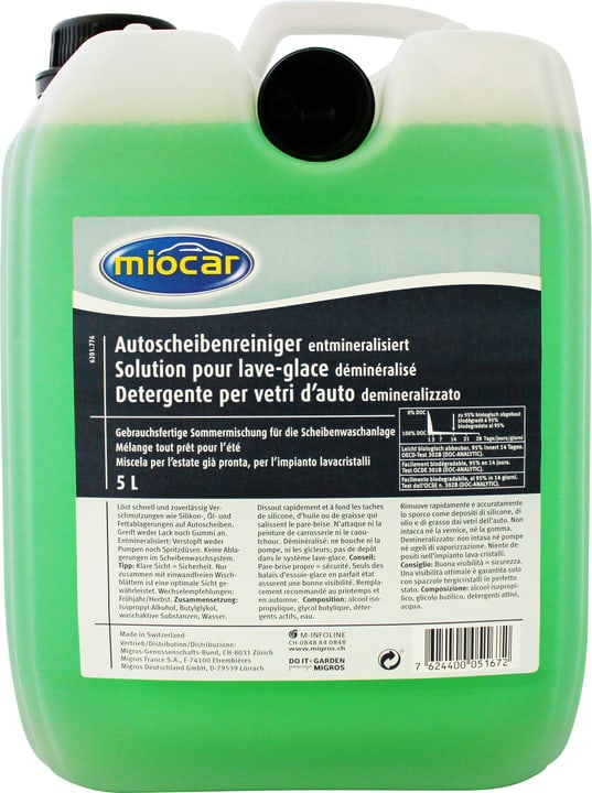Detergente per vetri d'auto Miocar 620177600000 N. figura 1