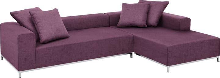MEMPHIS Canapé d'angle 405743050023 Couleur Violet Dimensions L: 290.0 cm x P: 190.0 cm x H: 60.0 cm Photo no. 1
