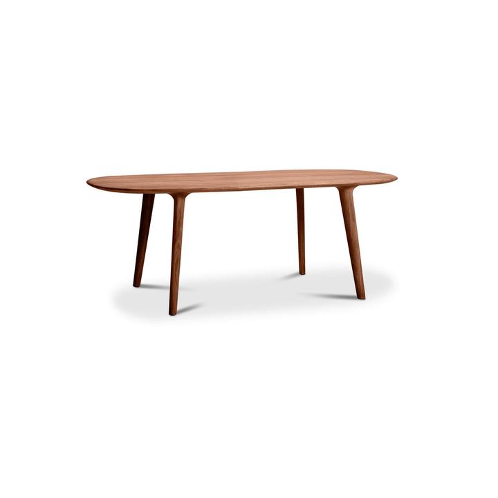 LUC Table noyer 366029824203 Dimensions L: 205.0 cm x P: 100.0 cm x H: 75.0 cm Couleur Noyer Photo no. 1