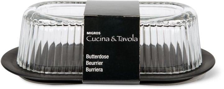 Butterdose Cucina & Tavola 701777700002 Farbe Schwarz, Transparent Grösse B: 20.0 cm x H: 11.5 cm Bild Nr. 1