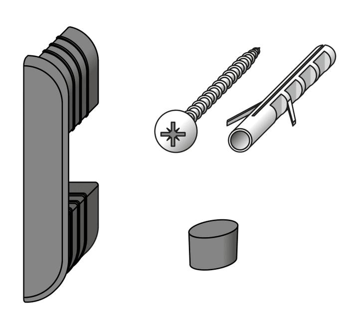 Set di fissaggio a parete coaxis® alfer 605862900000 N. figura 1