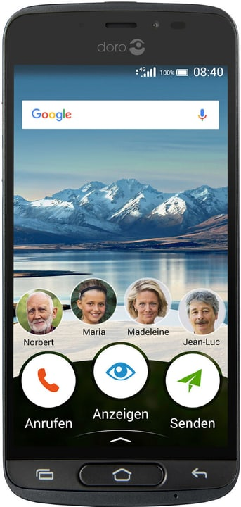 8040 16GB schwarz Smartphone Doro 785300133171 Bild Nr. 1