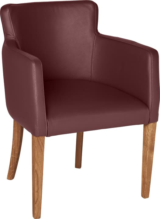 MORISANO Chaise 402358200034 Dimensions L: 56.0 cm x P: 46.0 cm x H: 79.0 cm Couleur Bordeaux Photo no. 1