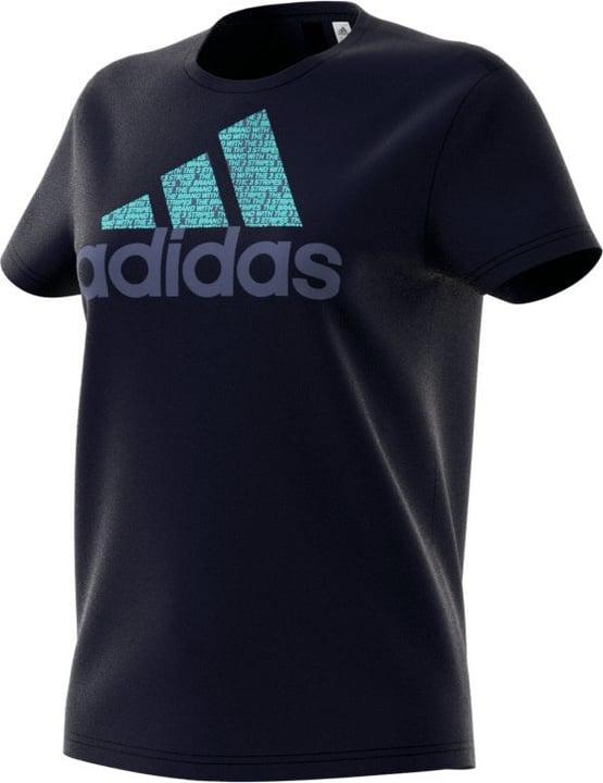 Foil Text Bos T-shirt pour femme Adidas 462378100443 Couleur bleu marine Taille M Photo no. 1