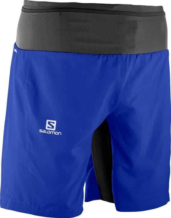 TRAIL RUNNER TWINSKIN SHORT M Short 2-in-1 pour homme Salomon 470147100340 Couleur bleu Taille S Photo no. 1