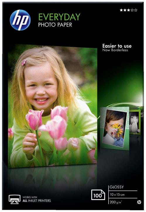 HP Papier photo brillant Everyday - 100 feuilles 10 x 15 mm