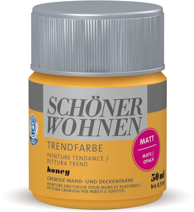 Testeur de couleur tendance Schöner Wohnen 660909600000 Couleur Honey Contenu 50.0 ml Photo no. 1