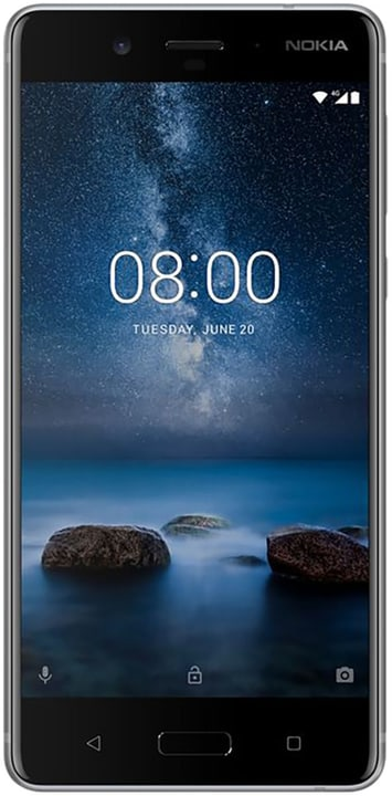 8 Dual Sim steel Smartphone Nokia 794623500000 Bild Nr. 1