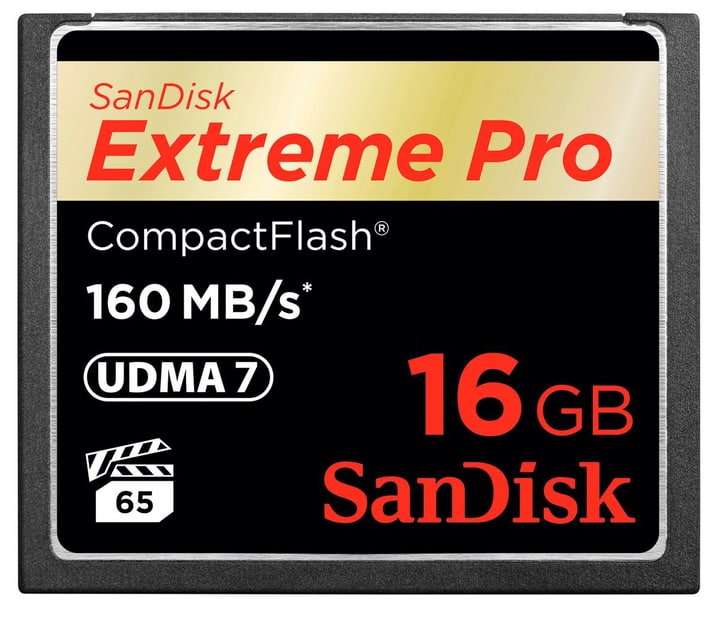 ExtremePro 160MB/s Compact Flash 16GB SanDisk 785300124248 Photo no. 1
