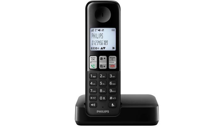 D2301B/38 Téléphone fixe sans fil noir Philips 794057100000 Photo no. 1