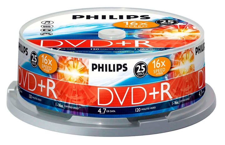 DVD+R 4.7 GB 25-Spindel Philips 787241700000