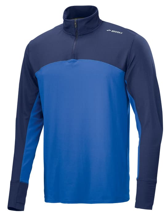 DASH 1/2 ZIP Herren-Langarm-Shirt Brooks 470154000340 Farbe blau Grösse S Bild-Nr. 1