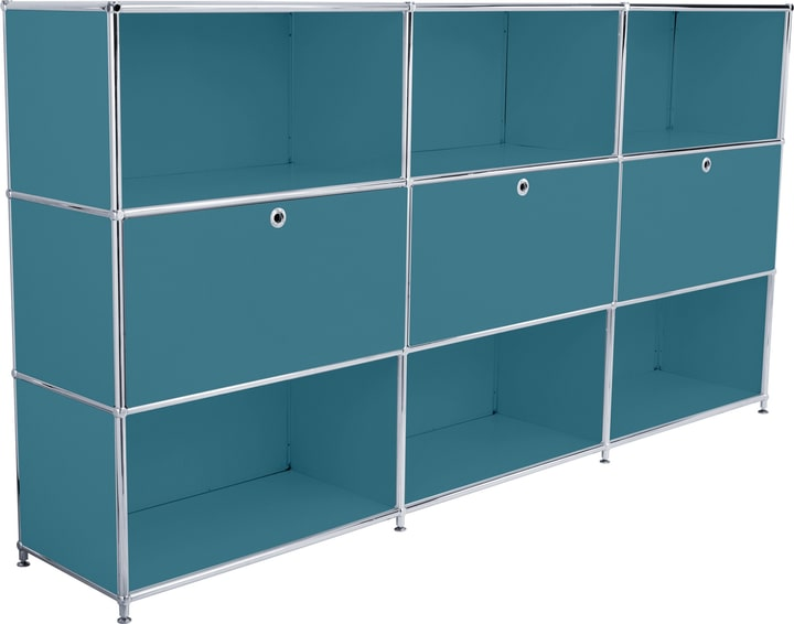 FLEXCUBE Buffet haut 401809800066 Dimensions L: 227.0 cm x P: 40.0 cm x H: 118.0 cm Couleur Pétrole Photo no. 1