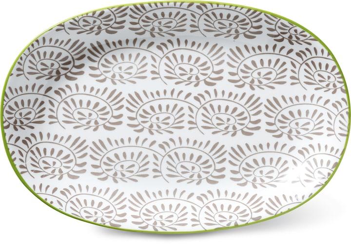 Assiette ovale Cucina & Tavola 703617200087 Couleur Taupe, Blanc Dimensions L: 23.0 cm x P: 15.5 cm x H: 2.5 cm Photo no. 1