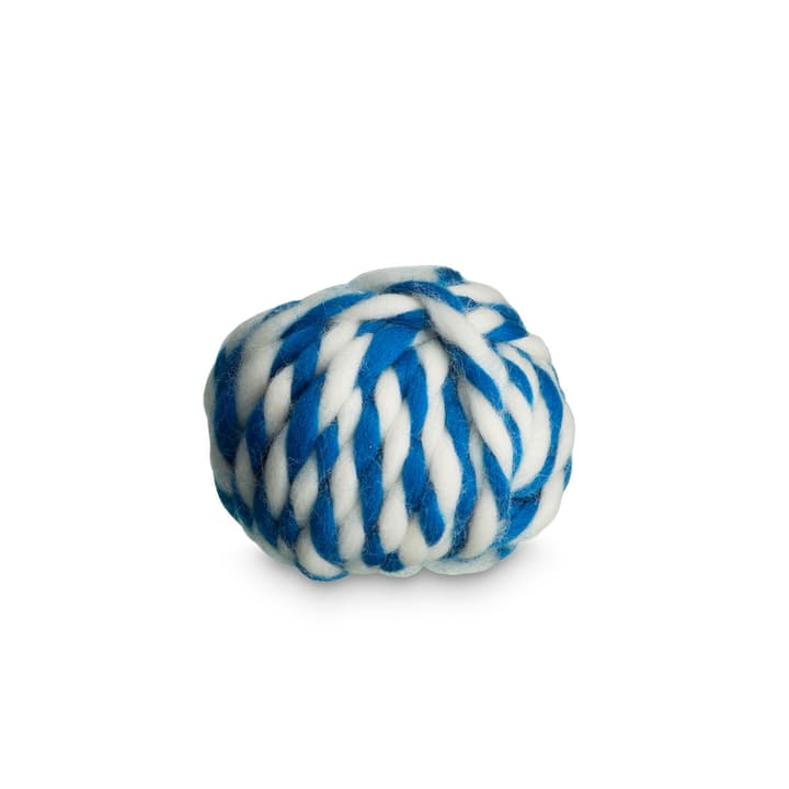 TWIST WOOL Ruban pour cadeau 386177900000 Dimensions L: 910.0 cm x P: 0.6 cm x H: 0.6 cm Couleur Bleu Photo no. 1