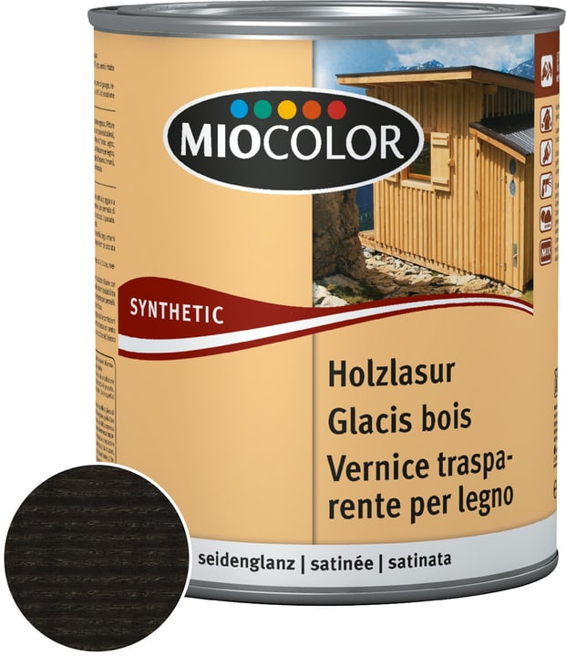 Holzlasur Miocolor 661125200000 Farbe Ebenholz Inhalt 2.5 l