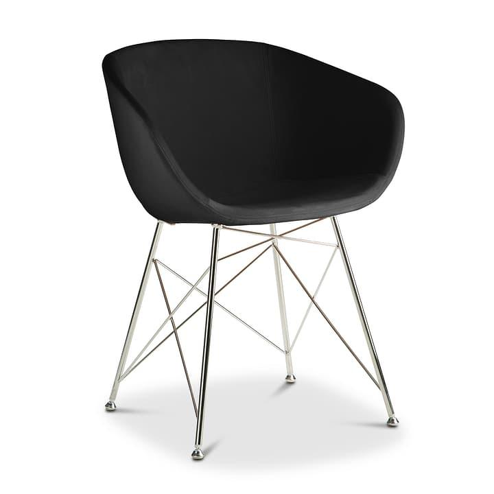 SEDIA Chaise avec accoudoirs 366171100000 Couleur Noir Dimensions L: 45.0 cm x P: 58.0 cm x H: 81.0 cm Photo no. 1