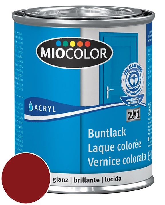Acryl Laque colorée brillante Rouge vin 750 ml Miocolor 660550900000 Couleur Rouge vin Contenu 750.0 ml Photo no. 1