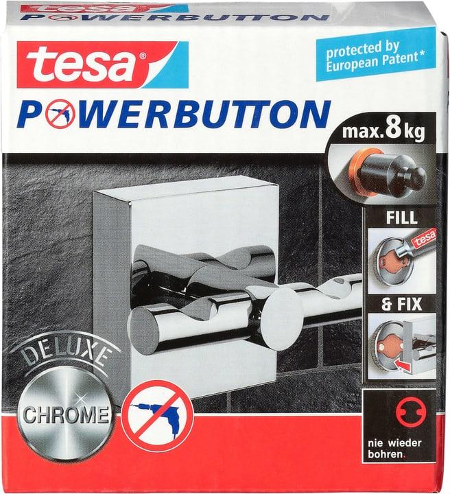 Tesa Powerbutton Haken Deluxe Eckig