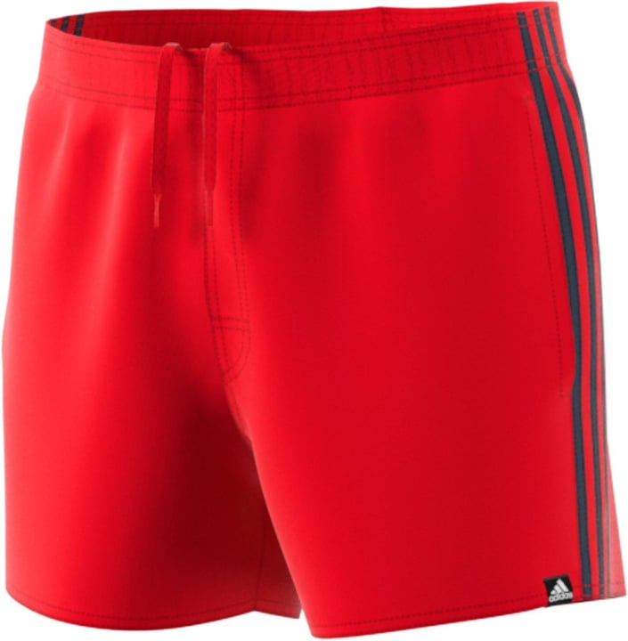 3 stripe short very-short-length Short de bain pour homme Adidas 463102500730 Couleur rouge Taille XXL Photo no. 1