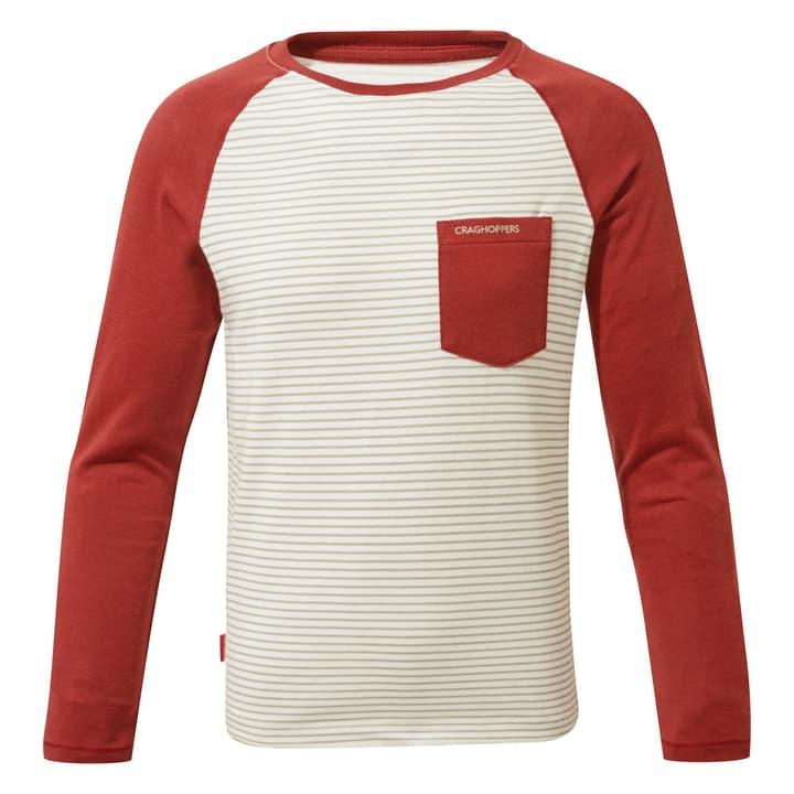 Lorenzo T-shirt à manches longues pour enfant Craghoppers 466910212833 Couleur rouge foncé Taille 128 Photo no. 1