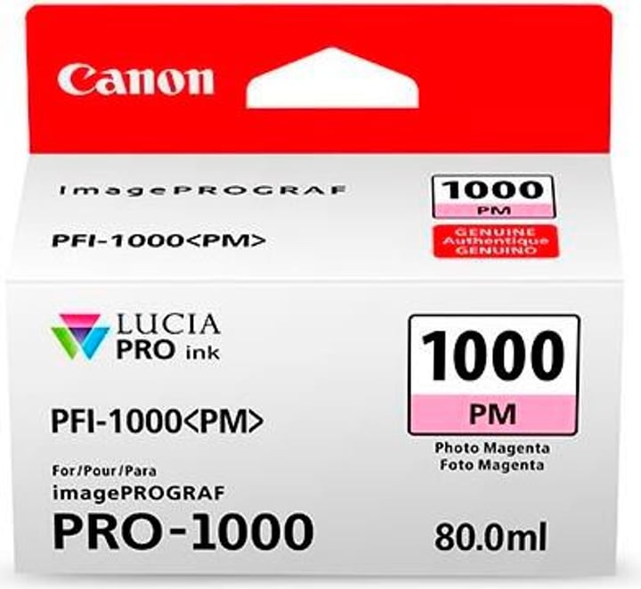 PFI-1000  Photo magenta Tintenpatrone Canon 785300126468 Bild Nr. 1