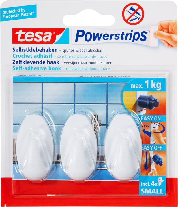 Tesa Powerstrips Haken Small Oval Kaufen Bei Do It Garden