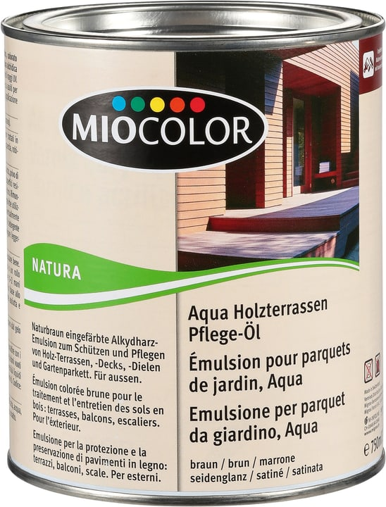 Émulsion pour parquets de jardin, Aqua Marron 750 ml Miocolor 661283500000 Couleur Marron Contenu 750.0 ml Photo no. 1