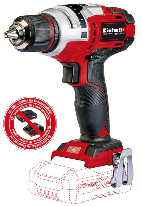 perceuse-visseuse sans fil TE-CD 18 Li-2 Solo Einhell 616711800000 Photo no. 1