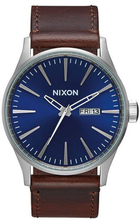 Sentry Leather Blue Brown 42 mm Orologio da polso Nixon 785300136961 N. figura 1