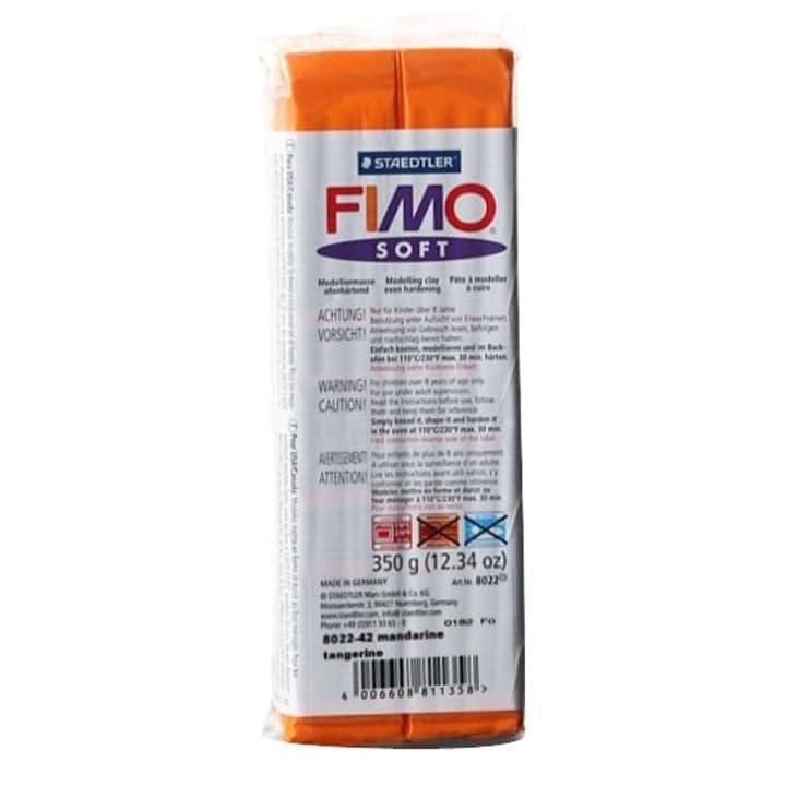 Soft grossblock mandarin, 350g Fimo 665554500000 Couleur Orange Photo no. 1