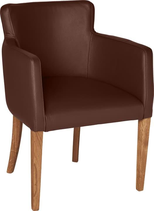 MORISANO Chaise 402358200016 Dimensions L: 56.0 cm x P: 46.0 cm x H: 79.0 cm Couleur Chocolat Photo no. 1