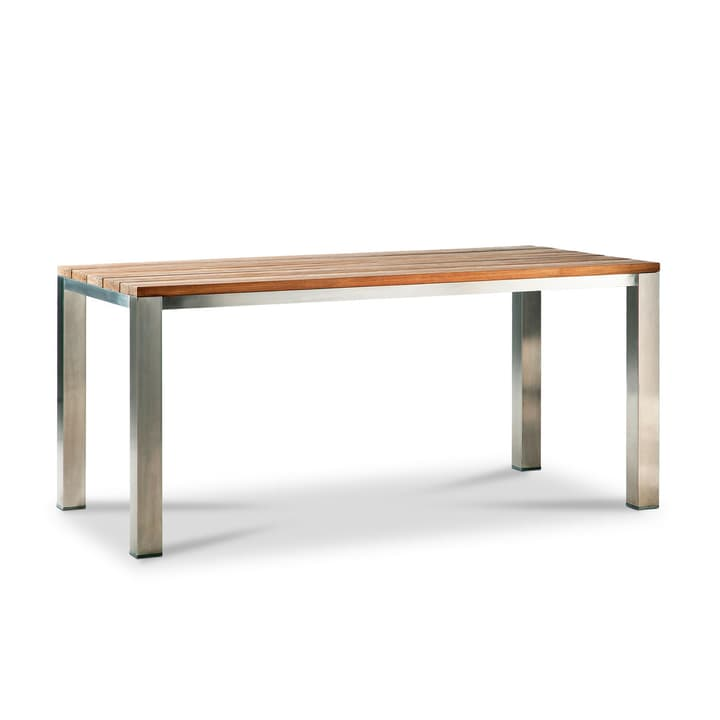 SILVIO table teck/inox 160x90cm 368007531901 Dimensions L: 160.0 cm x P: 90.0 cm x H: 78.0 cm Couleur Teak Photo no. 1